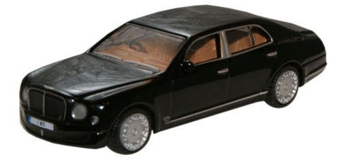 Oxford Diecast Royal Ebony Bentley Mulsanne - 1:76 Scale