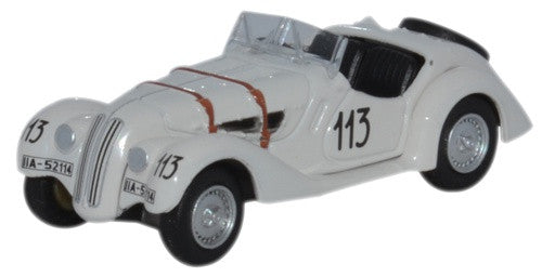 Oxford Diecast BMW 328 Mille Miglia 1938 Fane and James