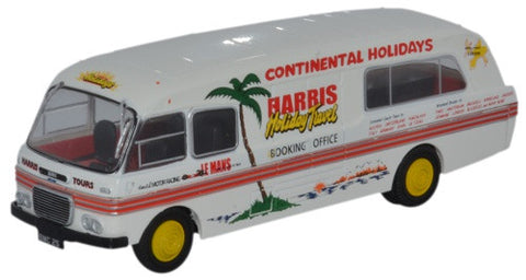Oxford Diecast BMC Booking Office Harris Coaches - 1:76 Scale