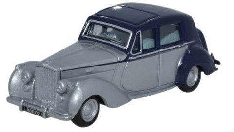 Oxford Diecast Bentley MkVI Midnight Blue -Shell Grey - 1:76 Scale