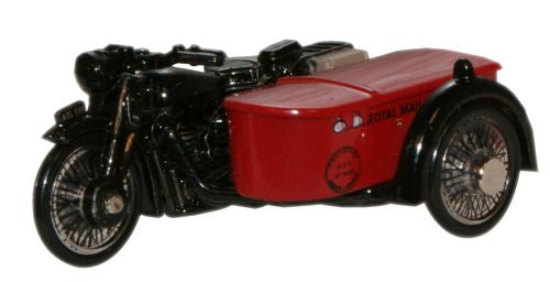 Oxford Diecast Royal Mail BSA Motorcycle _Sidecar - 1:76 Scale