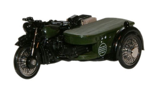 Oxford Diecast Post Office Telephones BSA Motorcycle _ Sidecar - 1:76