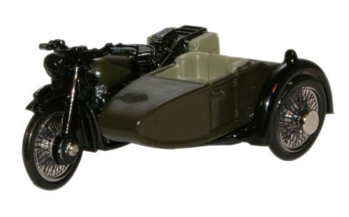 Oxford Diecast BSA Motorcycle Sidecar 34th Armoured Brigade 1945 - 1:7