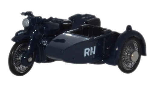 Oxford Diecast Motorbike/Sidecar Royal Navy - 1:76 Scale