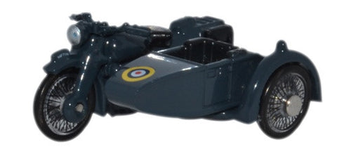 Oxford Diecast Motorbike and Sidecar RAF Blue