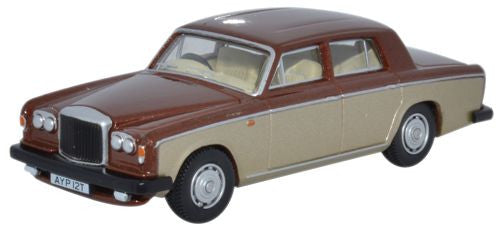 Oxford Diecast Bentley T2 Saloon Nutmeg_Silver Sand - 1:76 Scale