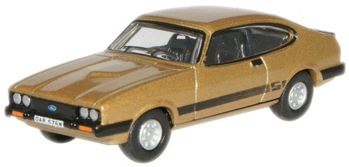 Oxford Diecast Solar Gold Ford Capri MkIII - 1:76 Scale