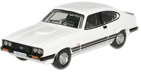 Oxford Diecast Diamond White Ford Capri MkIII - 1:76 Scale