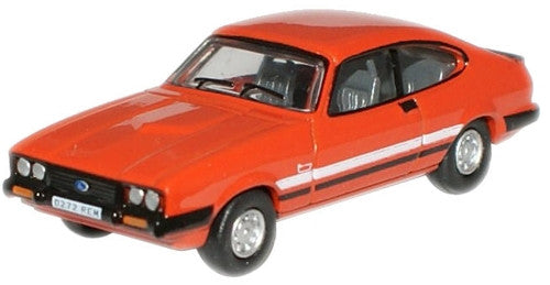 Oxford Diecast Sebring Red Ford Capri MkIII - 1:76 Scale