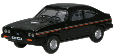 Oxford Diecast Black Ford Capri Mk3 - 1:76 Scale