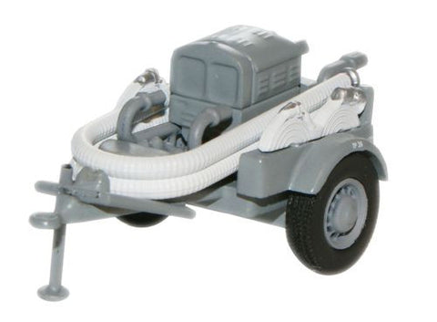 Oxford Diecast Grey NFS Coventry Climax Pump Trailer - 1:76 Scale