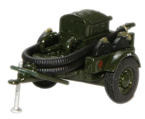 Oxford Diecast Green AFS Coventry Climax Pump Trailer - 1:76 Scale