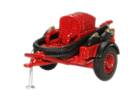 Oxford Diecast Red Coventry Climax Pump Trailer - 1:76 Scale