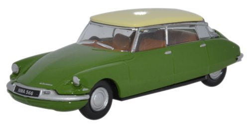 Oxford Diecast Sherwood Green/Daffodil Citroen DS19 - 1:76 Scale