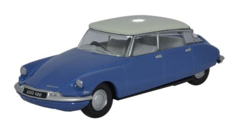 Oxford Diecast Citroen DS19 Delphinium Blue/White - 1:76 Scale