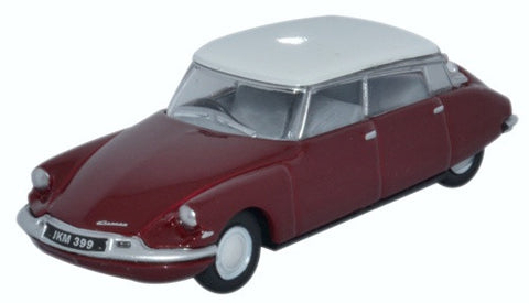 Oxford Diecast Citroen DS19 Regal Red White