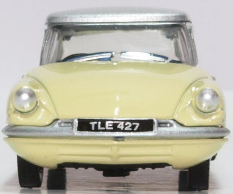 Oxford Diecast Citroen DS19 Jonquil Yellow and Silver