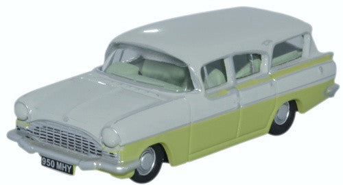 Oxford Diecast Vauxhall Friary Estate Swan White/Lime Yellow - 1:76 Sc
