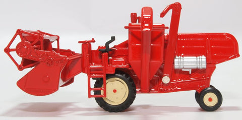 Oxford Diecast Combine Harvester Red