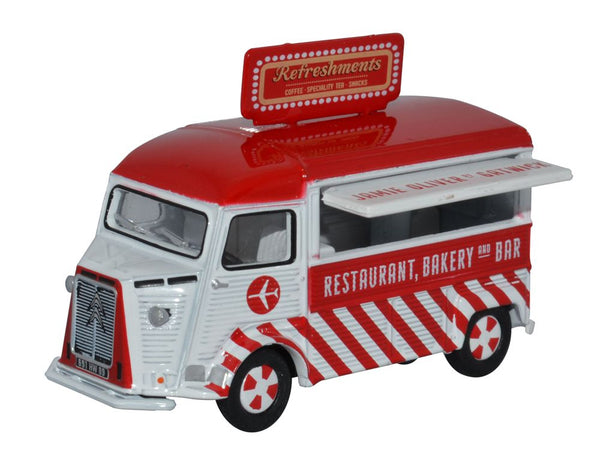 Oxford Diecast Citroen H Catering Van Jamie Oliver At Gatwick