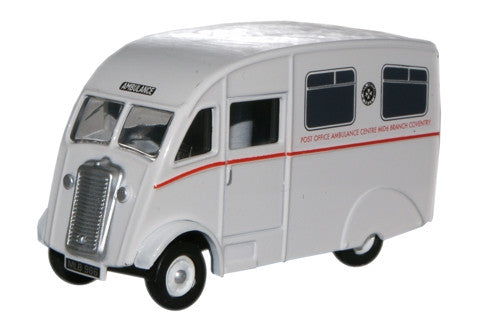 Oxford Diecast Post Office Coventry Commer Q25 Ambulance - 1:76 Scale