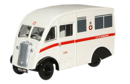 Oxford Diecast City Of Birmingham Ambulance Commer Q25 - 1:76 Scale