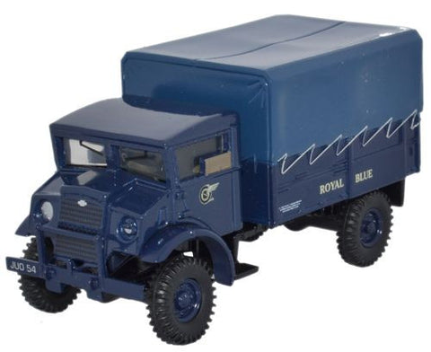 Oxford Diecast Royal Blue CMP LAA Tractor - 1:76 Scale
