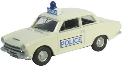 Oxford Diecast Cortina Mk I White Police - 1:76 Scale