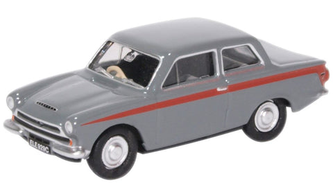 Oxford Diecast Ford Cortina MKI Lombard Grey/Red