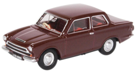 Oxford Diecast Ford Cortina MK1 Black Cherry