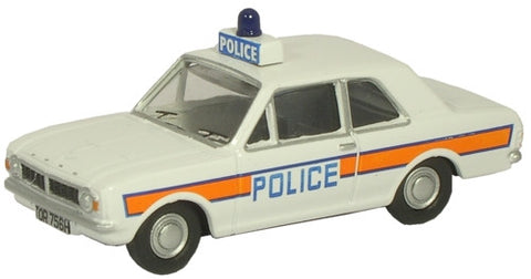 Oxford Diecast Ford Cortina MKII Hampshire & IOW Constabulary - 1:76 S