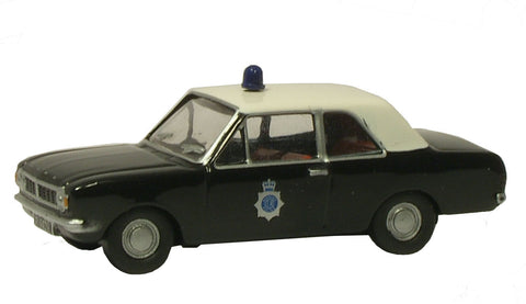 Oxford Diecast Police Ford Cortina MkII - 1:76 Scale