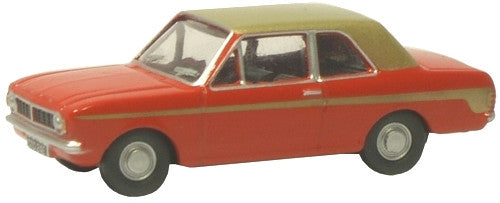 Oxford Diecast Red/Gold Racing Ford Cortina MkII - 1:76 Scale