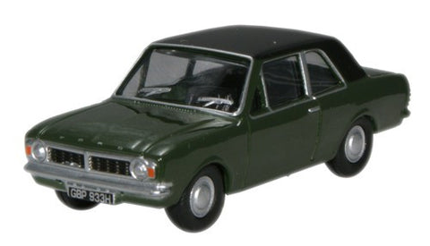 Oxford Diecast Ford Cortina MkII Aquatic Jade - 1:76 Scale