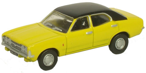 Oxford Diecast Ford Cortina MKIII Daytona Yellow - 1:76 Scale