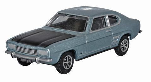 76CP004 Blue Mink Ford Capri 1:76 Scale Oxford Diecast