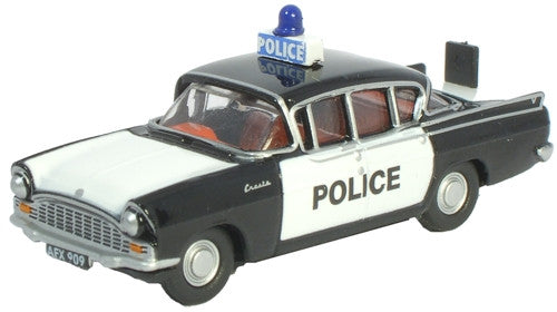 Oxford Diecast Vauxhall Cresta Black Police Car - 1:76 Scale