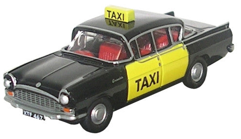 Oxford Diecast Vauxhall Cresta  Taxi Black - 1:76 Scale