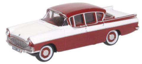 Oxford Diecast Vauxhall Cresta Venetian Red Polar White