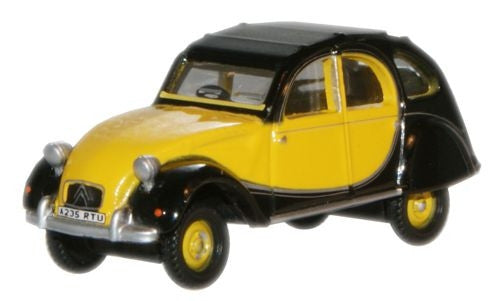 Oxford Diecast Charleston Yellow Black Citroen 2CV - 1:76 Scale