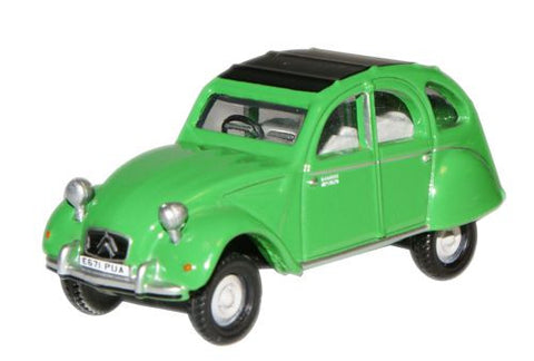 Oxford Diecast Bamboo Green Citroen 2CV - 1:76 Scale