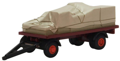 Oxford Diecast Canvassed Trailer Maroon and Red