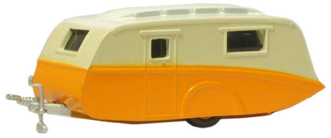 Oxford Diecast Orange/CreamCaravan - 1:76 Scale