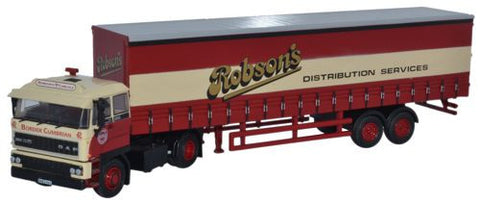 Oxford Diecast DAF2800 40ft Curtainside Robsons - 1:76 Scale