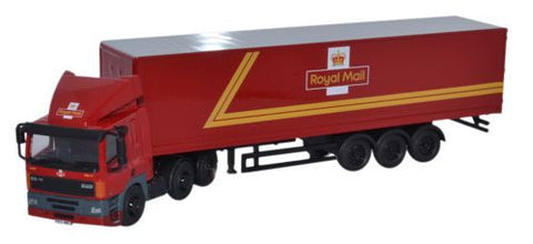 Oxford Diecast DAF 85 40ft Box Trailer Royal Mail - 1:76 Scale