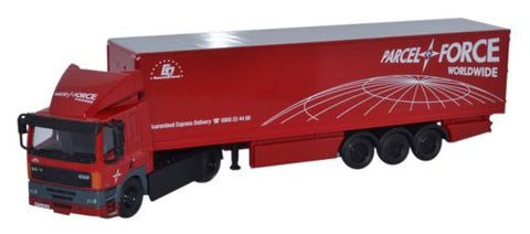 Oxford Diecast DAF 85 2 Axle 40ft Box Trailer Parcelforce - 1:76 Scale