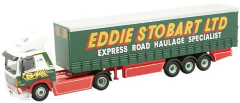 Oxford Diecast Leyland Daf FT85CF Curtainside Eddie Stobart - 1:76 Sca