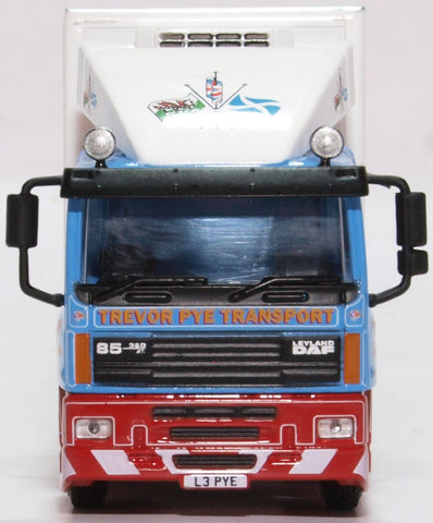 Oxford Diecast DAF 85 Short Fridge Trailer Trevor Pye