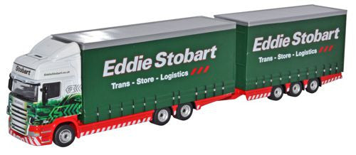 Oxford Diecast Scania Topline Drawbar Unit Eddie Stobart - 1:76 Scale