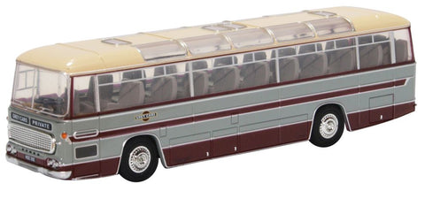 Oxford Diecast Duple Commander MKII Grey Cars